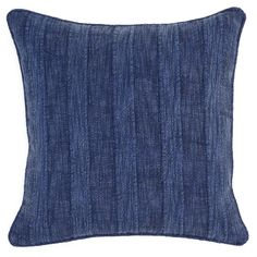 Set of 2 Heirloom Linen Indigo 22x22 Pillow design by Villa Home