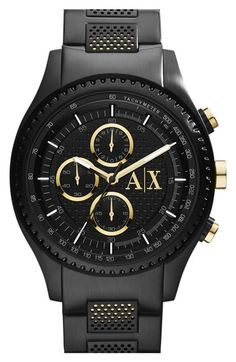 AX Armani Exchange Chronograph Bracelet Watch, 45mm available at #Nordstrom