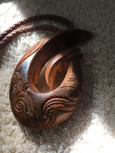 Fish Hook Necklace, Dremel Carving, Tribal Designs, Carving Designs, Bone Carving, Wood Carvings, Wooden Jewelry, Carved Wood, Wearable Art