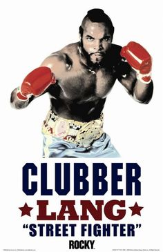"""Mr. T as Clubber Lang from """"Rocky III"""""""
