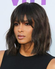 Bob Hairstyles are the Most Demanding Hairstyles for Women. Here are Most Trending Bob Hairstyles for Women in 2018 providing a trendy look. Bob Hairstyles 2018 are Best Hairstyles on Round Faces and Long Faces. Bobbed Hairstyles With Fringe, Bob Hairstyles 2018, Layered Bob Hairstyles, Ciara Hairstyles, Short Haircuts, Choppy Bob Hairstyles With Bangs, Fringe Bob Haircut, Blowout Hairstyles, Medium Haircuts