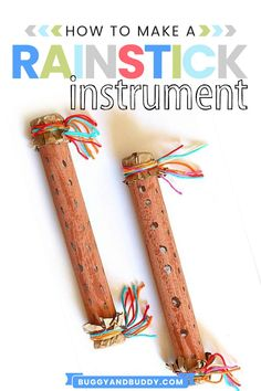 Make your own rainstick and explore the science of sound! This STEAM / STEM activity allows children to get creative with art while also exploring various sounds inside their homemade rain sticks using paper towel rolls. Art Activities For Kids, Science For Kids, Science Ideas, Arts And Crafts Projects, Projects For Kids, Easy Crafts For Kids, Art For Kids, Cardboard Crafts, Cardboard Playhouse