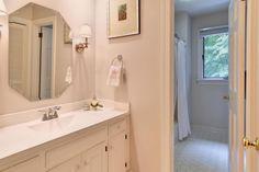Cover a medicine cabinet door with a print bathrooms for Bathroom remodeling williamsburg va