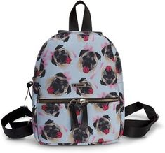 Mini Mochila Usthemp Art - Pug Por Carolina S. Mini Mochila, E Design, Pugs, Fashion Backpack, Backpacks, Tropical, Products, Block Prints, Recycling