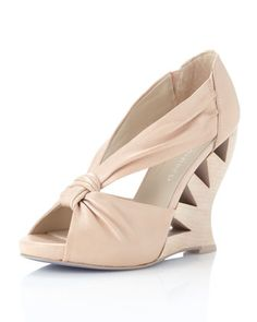 Becca Cutout Wedge, Rose by Donald J Pliner at Last Call by Neiman Marcus.