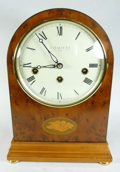 Comitti Regency Style Westminster Chime Mantel Clock - Working