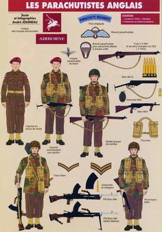 Военнослужащие парашютных подразделений Британской армии (1944 год)