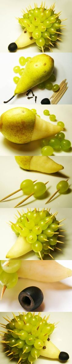 Food Art DIY - Hedgehog | iCreativeIdeas.com Like Us on Facebook ==> https://www.facebook.com/icreativeideas