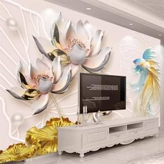 The Pain Of Classic Style Velvet Wallpaper Gold Rose Flower Living Room Sofa Bedroom TV 20 - bdarop Wallpaper Lounge, Velvet Wallpaper, Paper Wallpaper, Custom Wallpaper, Craft App, Arts And Crafts For Adults, 3d Wall Murals, Tv In Bedroom, Home Wedding