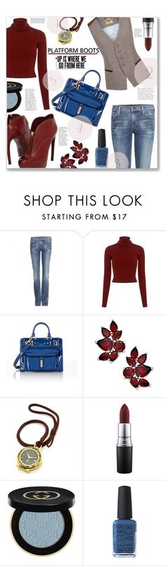 """Rise Up!!!"" by jckallan ❤ liked on Polyvore featuring Citizens of Humanity, A.L.C., Fontana Milano 1915, Gucci, MAC Cosmetics, Kester Black and PlatformBoots"