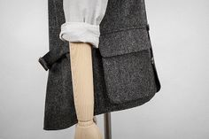 The waistcoat cinch relies on buckles to regulate size. Apparently though, while we can put a man on the moon, but are unable to make a working cinch. Work Jackets, Well Dressed, Charcoal, Vest, Blazer, Wool, My Style, Grey, Sewing