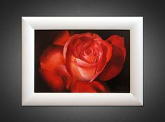 Painting canvas Flower painting Oil painting ORIGINAL PAINTING Small canvas art Rose painting Flower wall art Gift for her Realism Framed