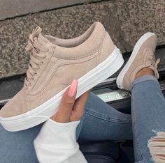 Beige suede vans Vans Girls Style fd2772533c68