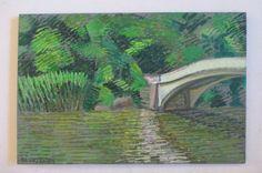 Shant Beudjekian Californian Expressionism Pointillism Landscape Bridge Painting | eBay
