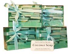 Handmade Coconut Soap  Large 140 g Bar  SLS & by FreshZephyrAromas