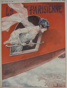 La Vie Parisienne - Vol de Pekin à Paris - June 1928 – Rue Marcellin Vintage French Posters and Prints