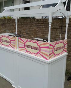 Hire Churro Carts by Love Carts - these yummy churros will certainly have your guests licking their lips! Branding is available on all carts, find out more about hiring Love Carts & our award-winning entertainment service Food Stall, Ice Cream Desserts, Diy Cabinets, For Your Party, Churros, Crepes, Cart, Entertainment, Events