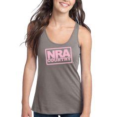 NRA Country Frosty Grey Flowy Tank $25