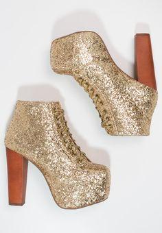 Jeffrey Campbell - LITA - Korte laarzen - glitter gold