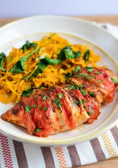 Slimming Eats - Tomato and Mozzarella Stuffed Chicken - Gluten free, Paleo…