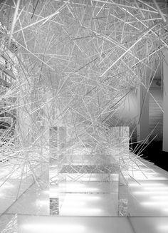 Snowflakes installation for Kartell