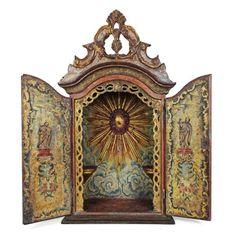 Oratório D. João V, em madeira policromada do séc XVIII..
