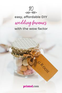 Planning a wedding? Don't forget about those favours! They serve as reminders of the day, and are a thoughtful touch that help each and every guest feel remembered and cherished. But don't make the mistake of overpaying for yours – take a look at some of our ideas for printing your own DIY wedding favours and keeping your costs low! #DIYwedding #affordablewedding