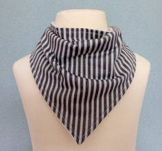 A personal favourite from my Etsy shop https://www.etsy.com/uk/listing/241775621/grey-vertical-striped-dribble-bib