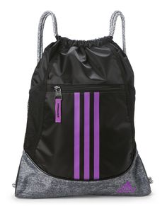 98b07b80d3 Adidas Black   Purple Alliance Sack Pack Black Leather Handbags