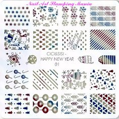 Nail Art Stamping Mania: Cici&Sisi Happy New Year 01-04 Christmas plates - Swatches and Review