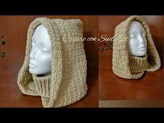 Knitting Stiches, Loom Knitting, Crochet Stitches, Crochet Hood, Love Crochet, Chain Stitch, Slip Stitch, Crochet Basics, Knit Patterns