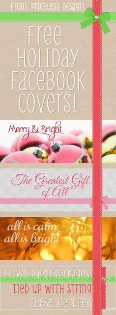 Free Holiday Facebook Covers from Priceless Design Studio  www.pricelessdesignstudio.com