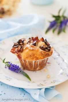 Bacon and mushroom muffins. A meal in a muffin!