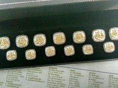 Button set in silver
