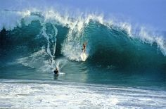 Wipeout on a big wave at the Wedge in Newport Beach, California.