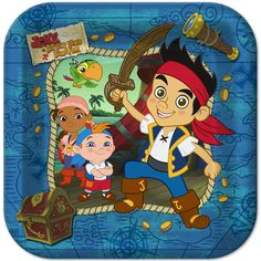 Download now free template jake and the neverland pirates birthday jake the neverland pirates 9 big lunch dinner plates 8ct party supplies filmwisefo