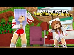 Minecraft Little Kelly : BABY ELLIE PRANKS RAMONAS DAUGHTER BRITNEY! - YouTube