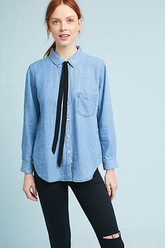 Rails Tie-Neck Chambray Buttondown #ad
