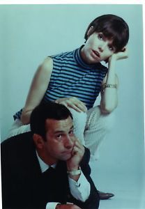 """Publicity shot of Don Adams (Agent Maxwell Smart aka Agent 86) and Barbara Feldon (Agent 99) in the 1960s TV show """"Get Smart"""""""