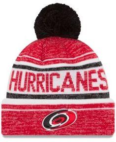 New Era Carolina Hurricanes Snow Dayz Knit Hat - Red Adjustable
