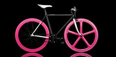 hot pink bicycle