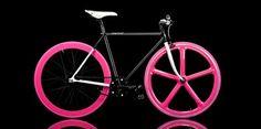 hot pink bicycle