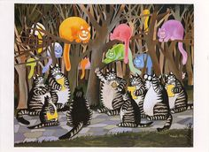 Kliban's cats postcard by Hflyers, via Flickr