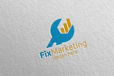 Fix Marketing Financial Advisor Logo Design 57 Vector Logo Design, Logo Design Template, Logo Templates, Graphic Design, Marketing Logo, Business Logo, Business Cards, Financial Logo, School Logo