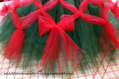 how to make the lattice tutu. I just had a lightbulb moment. Instead of using this method to make a tutu, do this on a larger scale and cover the tree with it.