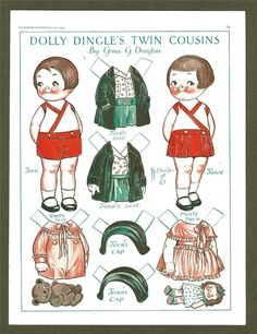 Dolly Dingle Paper Doll Feb 1930 Pictoral Review Twin Cousins Drayton | eBay