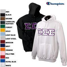 Sigma Sigma Sigma Sorority 2 Champion Hoodies Pack #greek #sorority #sigmasigmasigma #trisigma #clothing