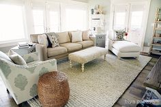 Gorgeous Family Room from 4-chairs.com!  #furniture #decor