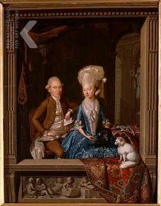 Louis François Gerard van der Puyl  Portrait of Carolus Martinus van Beurden (1753-1788) and Lucia Teresa of Lilaar Stout Bergh (1752-1819), dated 1780  Private