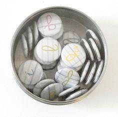 set of alphabetical magnets